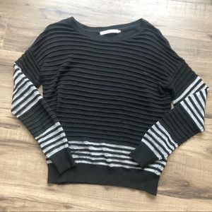 Anthro Stitches & Stripes Black/White Sweater XS